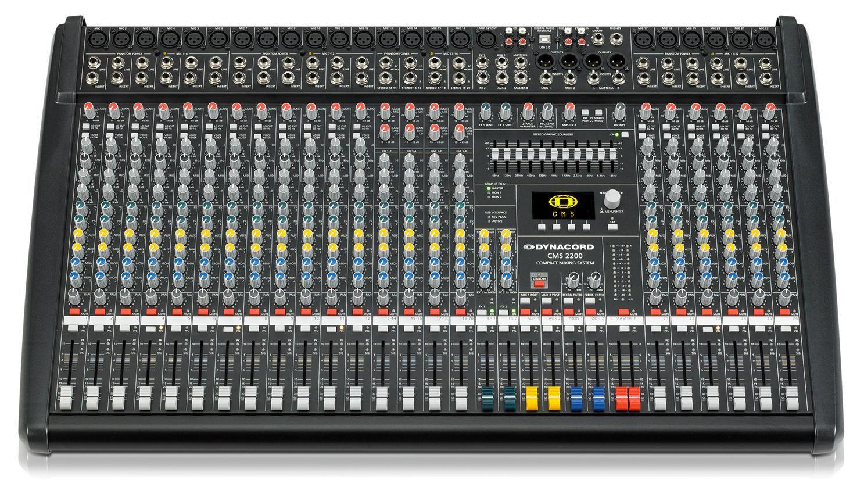 Dynacord CMS 2200-3 Mixer, Mischpult, 18 Mikrofoneingänge, 4 Stereokanäle, EQ