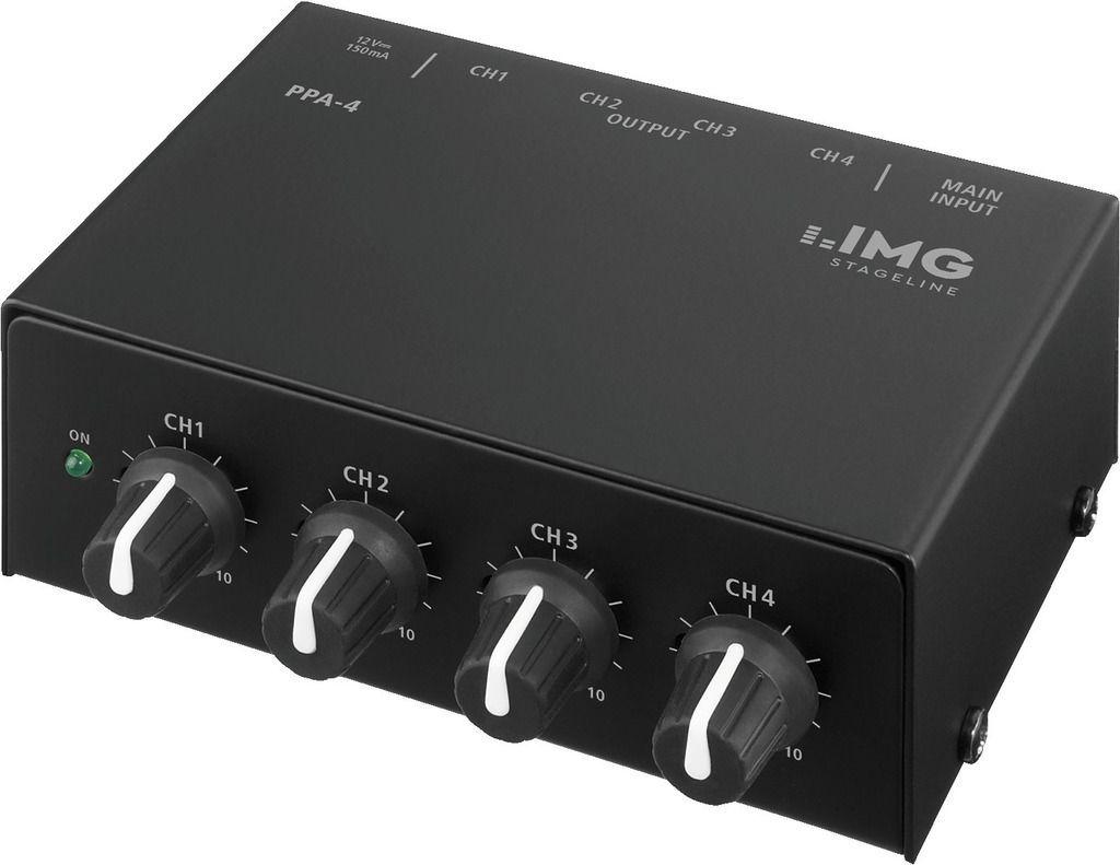 IMG Stage Line PPA-4  Stereo-Kopfhörerverstärker 4-Kanal