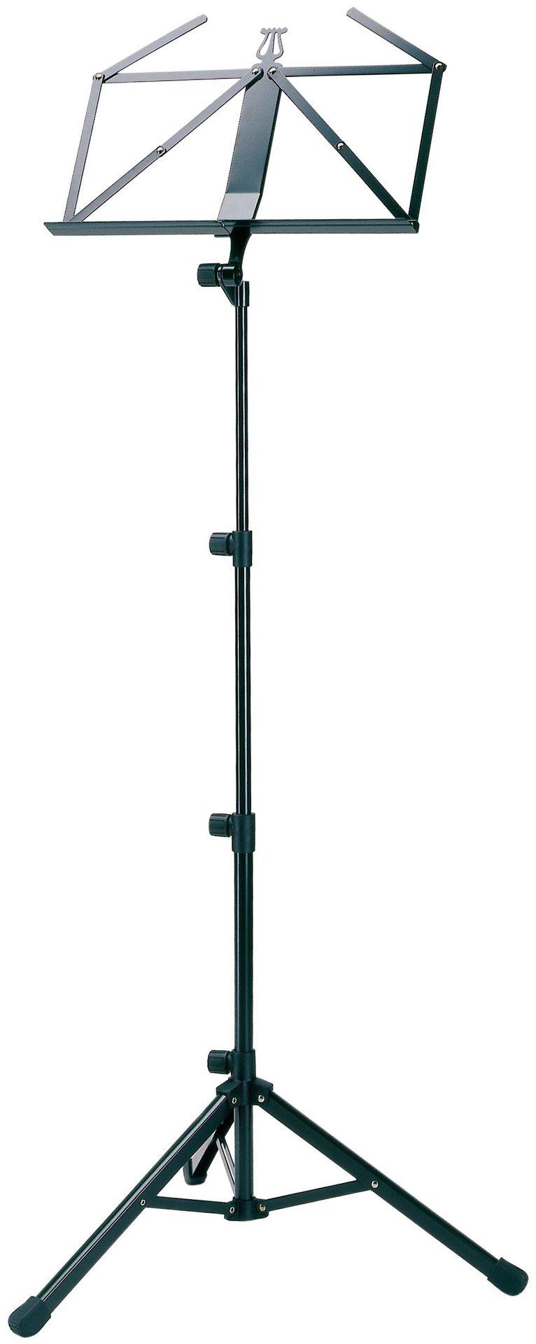 K&M 10810 Notenpult schwarz Höhe 720mm - 1520 mm