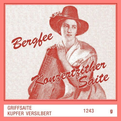 Zithersaiten Optima Zither-Saiten Bergfee Griff G,  661514, 1243-H, Harfenzither