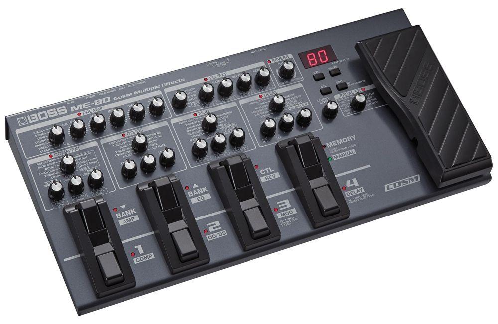 Boss ME-80 EXP Multieffektgerät für E-Gitarre mit Manual & Memory Mode