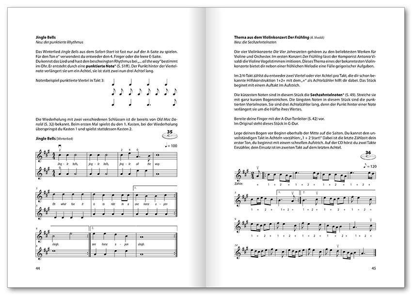 Noten Violin basics incl. CD Der Anfängerkurs Voggenreiter 0645
