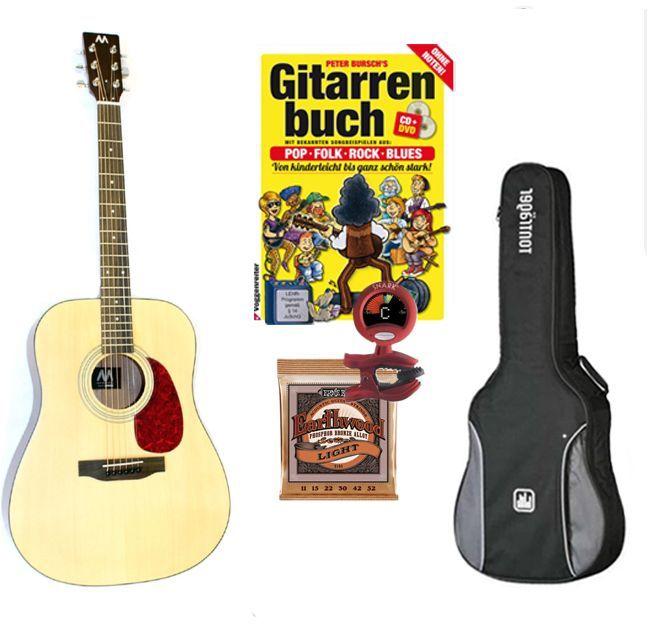 Mark-Westerngitarren SET, Paket: Gitarre lernen