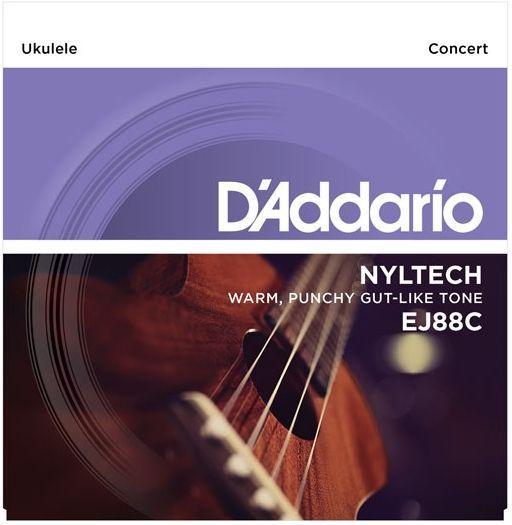 D'Addario EJ88C Nylon Konzert-Ukulele Saiten G C E A