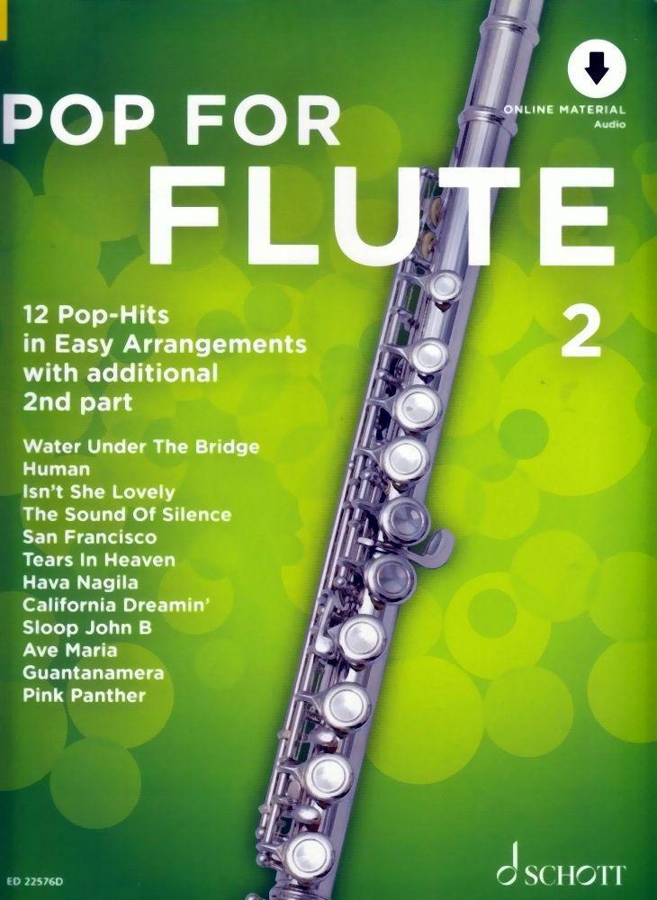 Noten Pop for flute 2 ED 22576D für Querflöte incl. Audio downloadcode