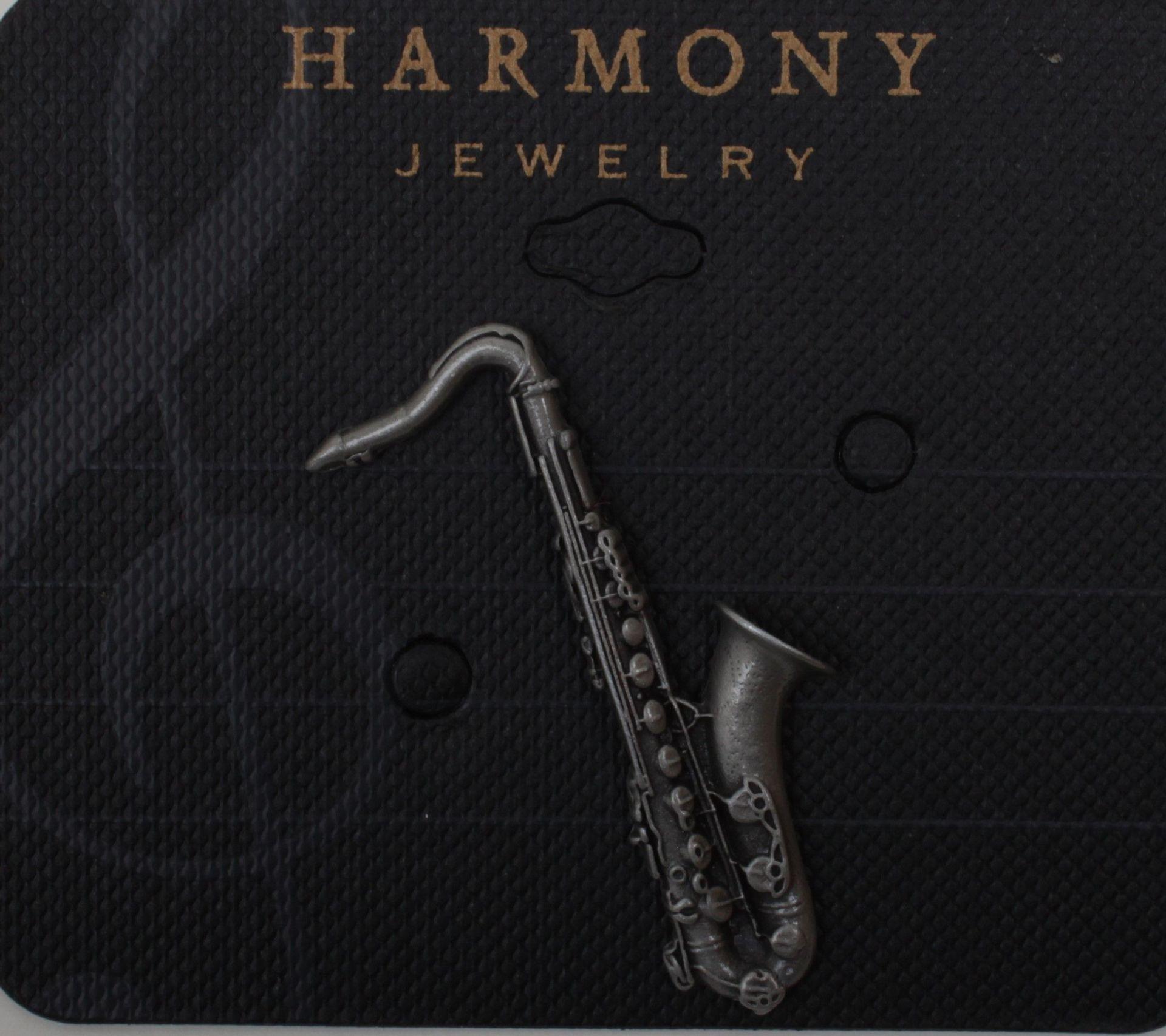 Anstecker Tenor-Saxophon FP-Schmuck  #542 Musikergeschenke Sondermodell !!