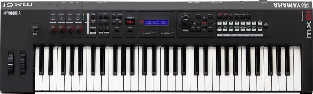 Yamaha MX-61 V2  schwarz, Synthesizer ,61 Tasten, über 1000 Sounds,