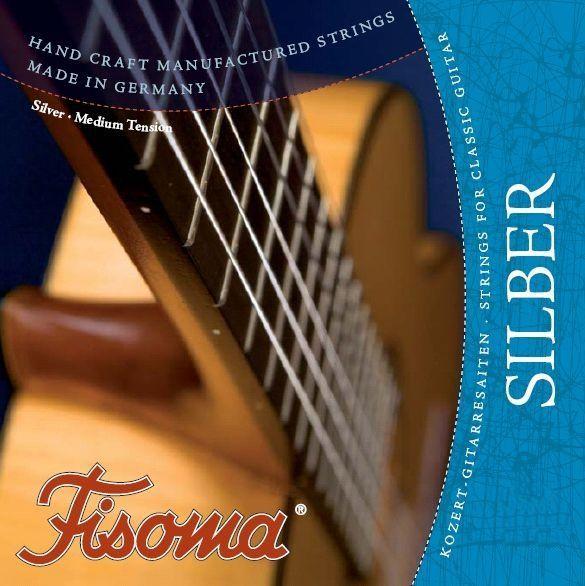 Fisoma Classic-Nylon-E-Saite     E /1 Konzertgitarre versilbert