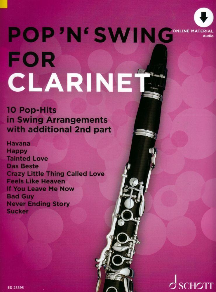 Noten Pop 'n' Swing For Clarinet ED 23395 incl. Audio-download Code