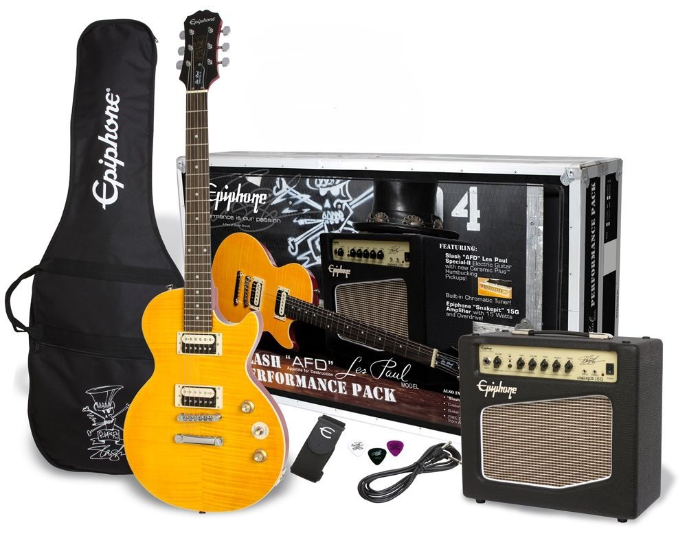 "Epiphone Slash ""AFD"" Les Paul Special II Performance Pack m. Gitarre, Amp & Zub."