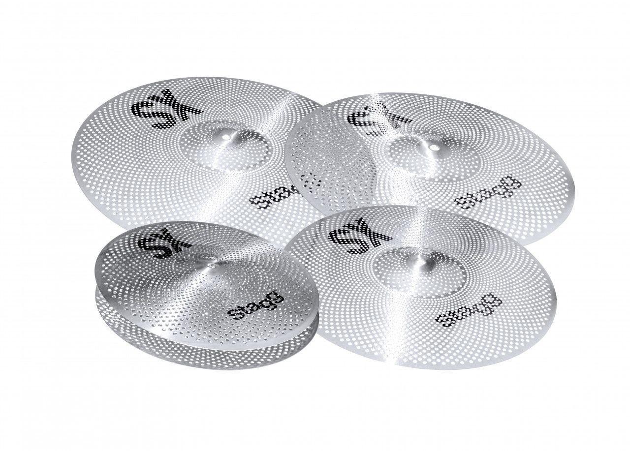"Stagg Silent Cymbal Set SXM SET 16""u18"" Crash, 20"" Ride,14"" Hi-Hat"