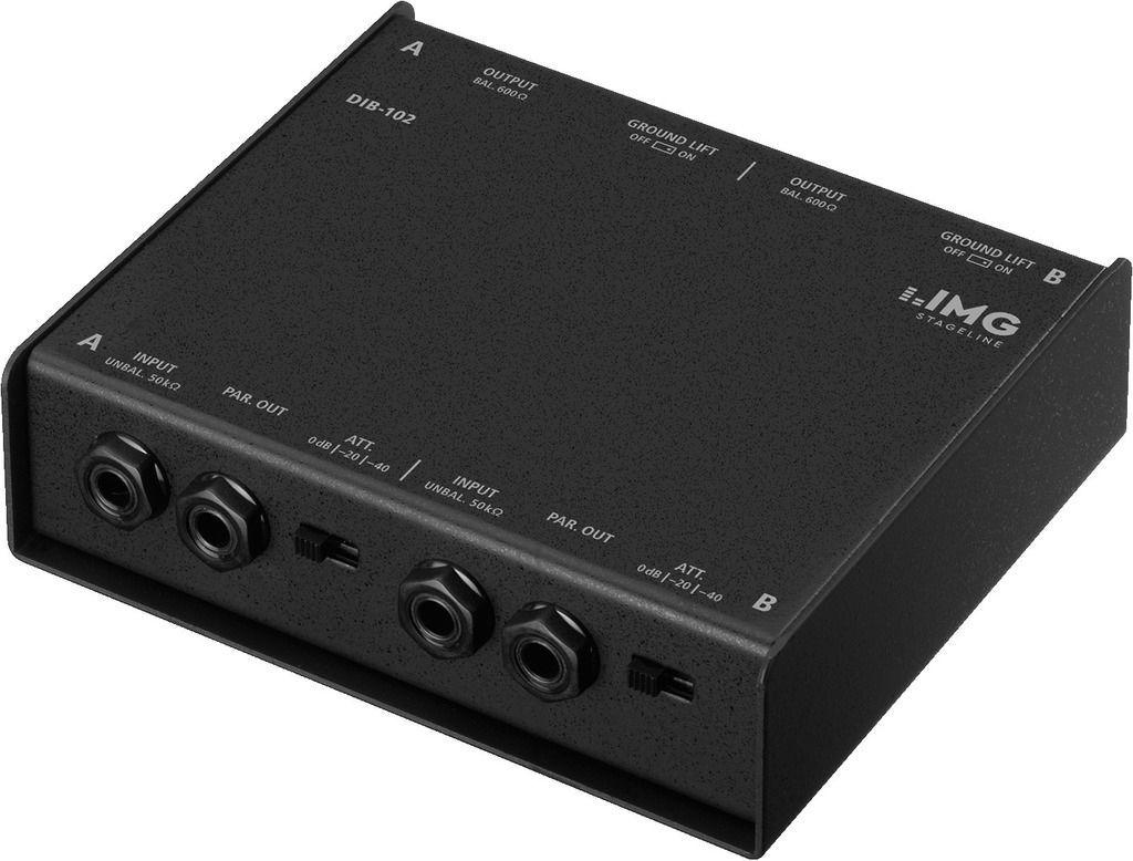 IMG Stage Line DIB-102 passive DI-Box 2-Kanal
