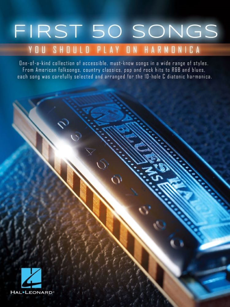 Noten First 50 songs you should play on harmonica HL 152493