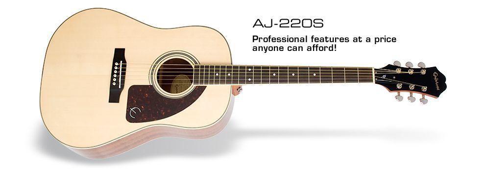 Epiphone AJ-220S NA Westerngitarre mit massiver Fichtendecke hochglanz