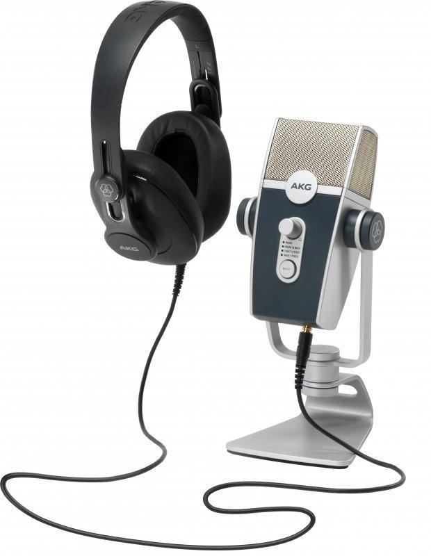 AKG Podcaster Essentials Podcast SET mit USB Mikrofon, Kopfhörer, Software  NEU