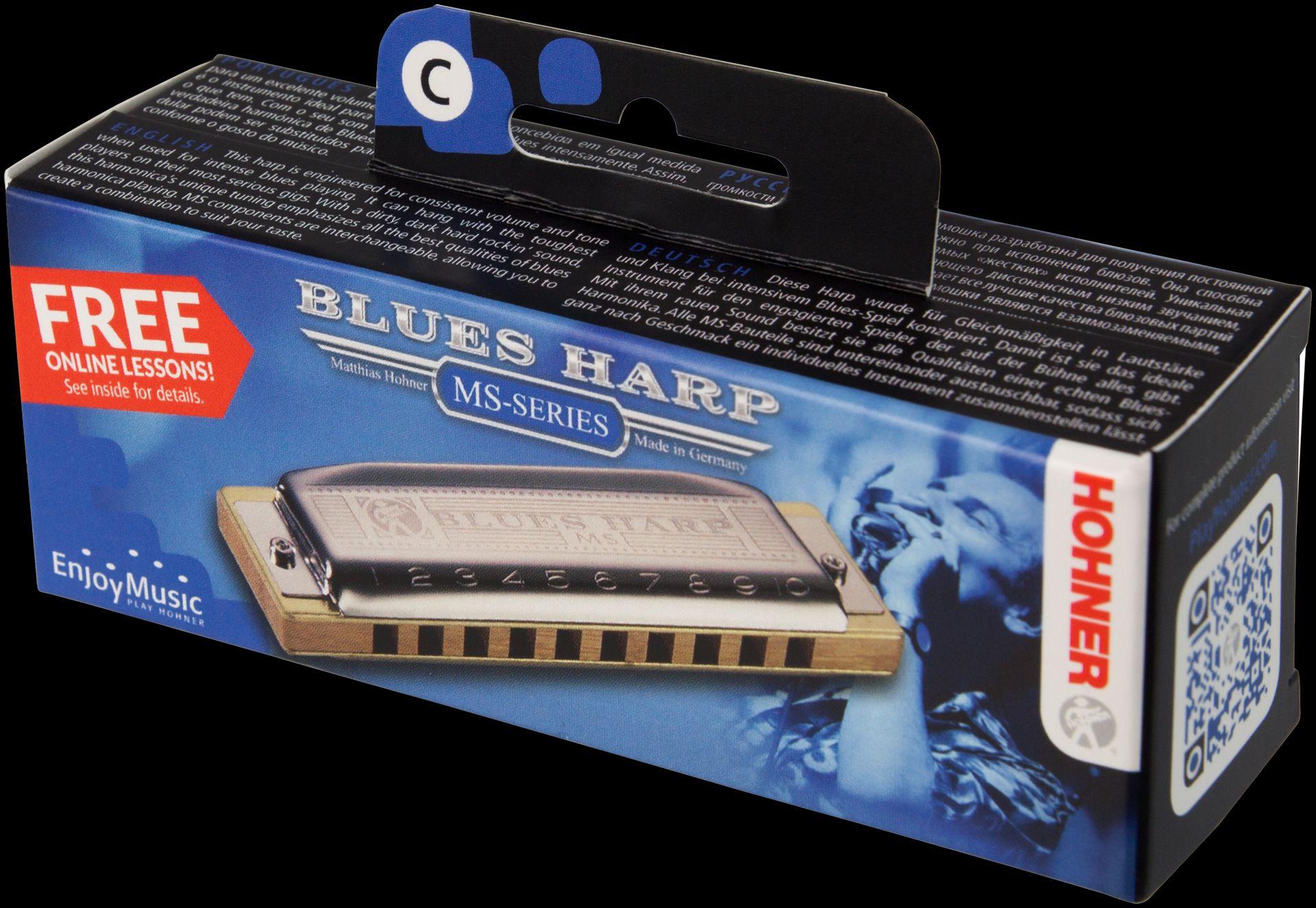 Hohner Blues Harp C-Dur /20 Mundharmonika HOM533017