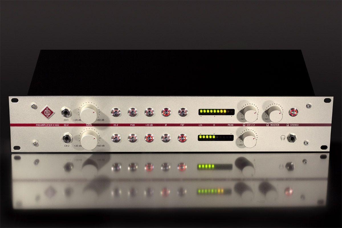 Neumann V 402   2-Kanal Studio Mikrofon Vorverstärker der Referenzklasse