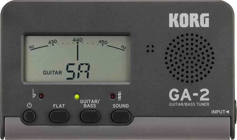 Korg GA-2 Gitarren/BassTuner, Stimmgerät mit Auto/Manual Modus, Klinkenbuchsen