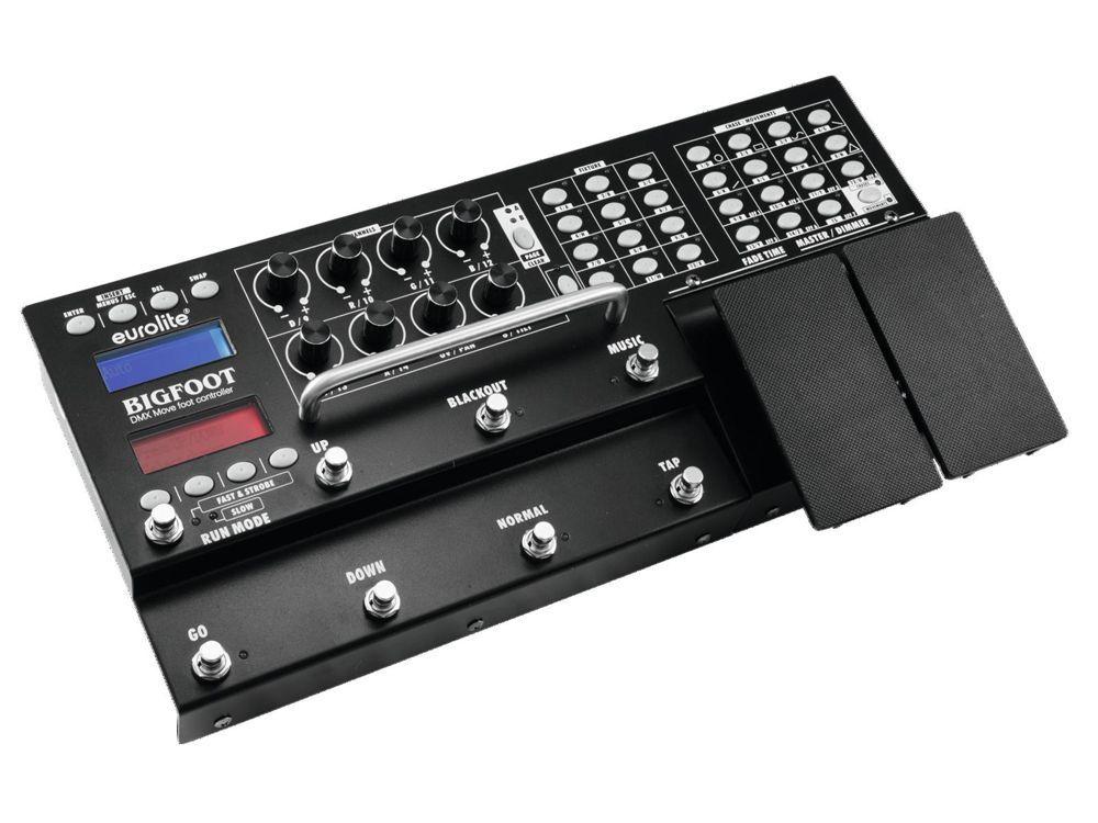 EUROLITE DMX Move Bigfoot Fußcontroller 192 DMX-Fußschalter für LED Scheinwerfer