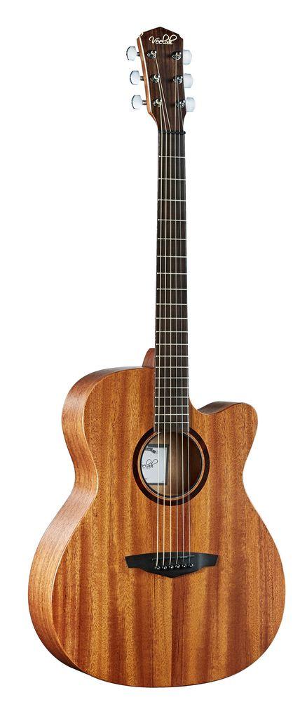 Veelah V1 OMMCE  Akustikgitarre, massive Mahagonidecke  Pickup