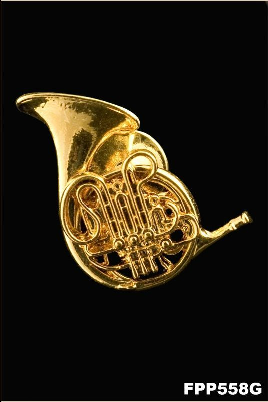 Anstecker Waldhorn FP-Schmuck French Horn #558 Musikergeschenke Musikerschmuck