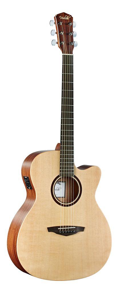 Veelah V1 OMCE  Akustikgitarre, massive Fichtendecke