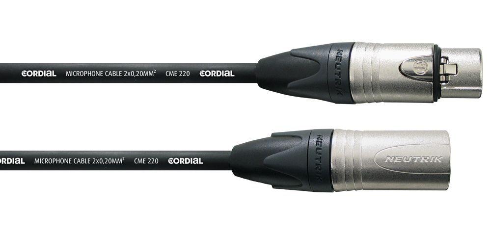 Cordial CXM 10 FM-BK Mikrofonkabel Neutrik XLR male/female, 10 Meter schwarz