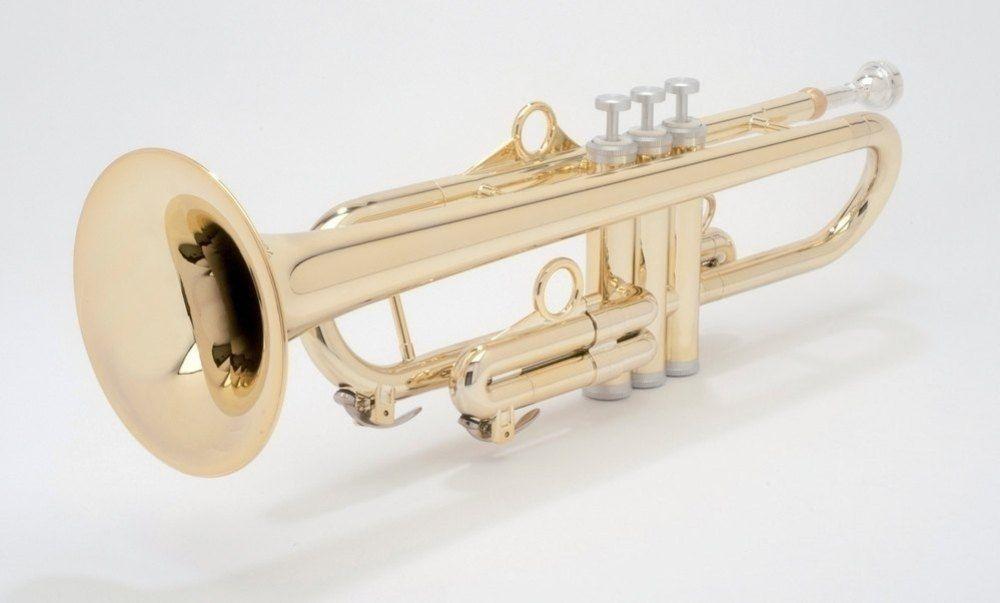 PTrumpet Trompete gold, Messing-Ventilbüchsen, Edelstahl Ventile,