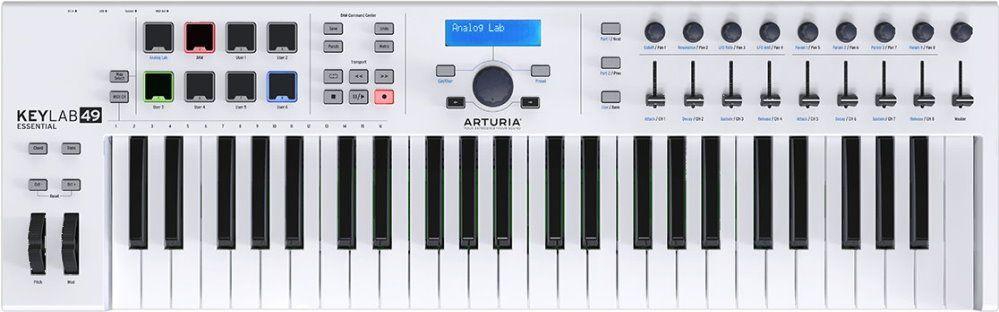 Arturia KeyLab Essentials 49 MIDI-Controller für Einsteiger, 49 Tasten