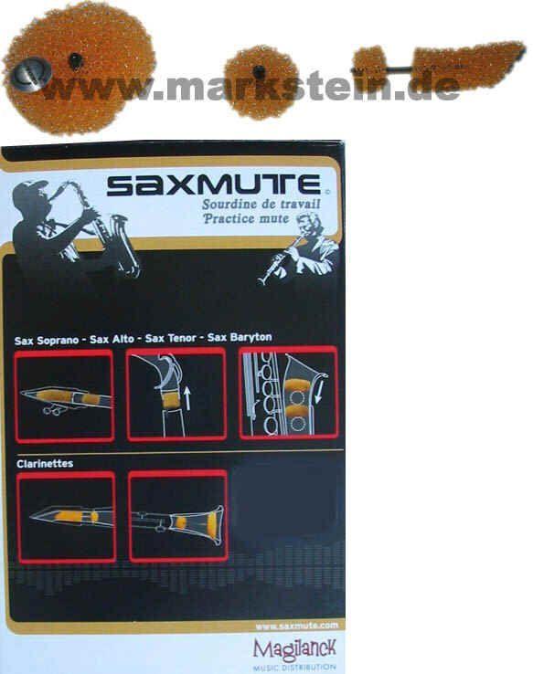Dämpfer für Klarinette SAXMUTE, 3-teiliges System zur Lautstärkereduktion
