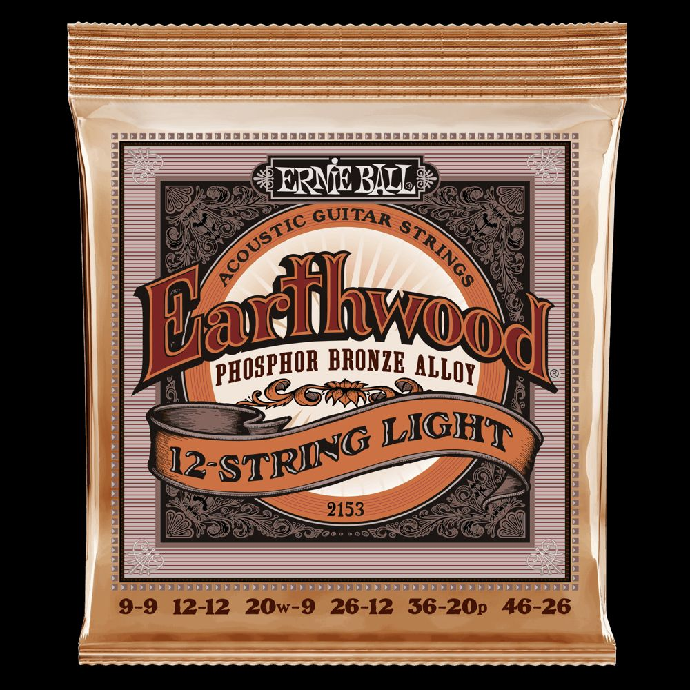 Ernie Ball EB2153 Slinky-12, Akustik Saiten, 12-String, .009-.046