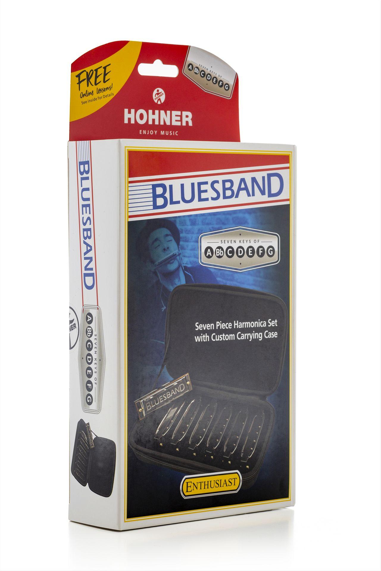 Hohner Starter Set Bluesband Mundharmonika HOM91105