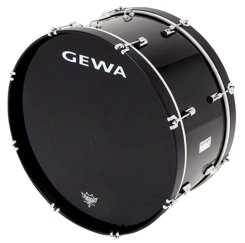 Gewa Marching Bass Drum 26 x 12 black Marschpauke Pappelholz Folie Remo Felle