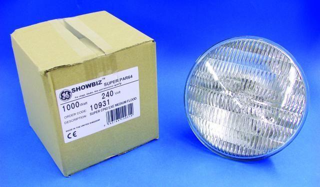 General Electric GE CP62 SUPER 240V/1000W Glühbirne für Lampe PAR 64
