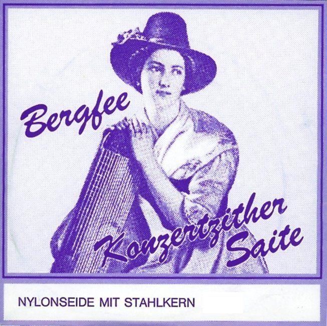 Bergfee ZitherSaiten Satz 1330, Wiener Stimmung 32-saitig, blaue Serie,1330WS32