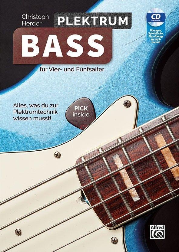 Noten Plektrum Bass für Vier und Fünfsaiter Alfred Verlag ALF 20287G incl. CD