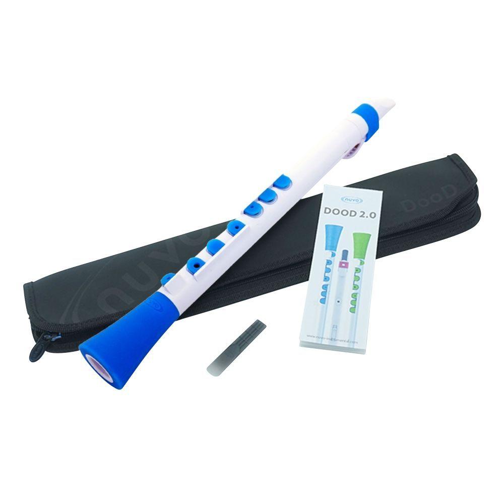 Kinderklarinette NUVO DOOD 2.0 weiß-blau, Klarinette für Kinder ab 4 Jahren