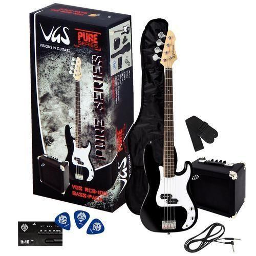 VGS RCB-100 E-Bass Pack BK, Einsteigerpaket mit Bass, Amp + Zubehör
