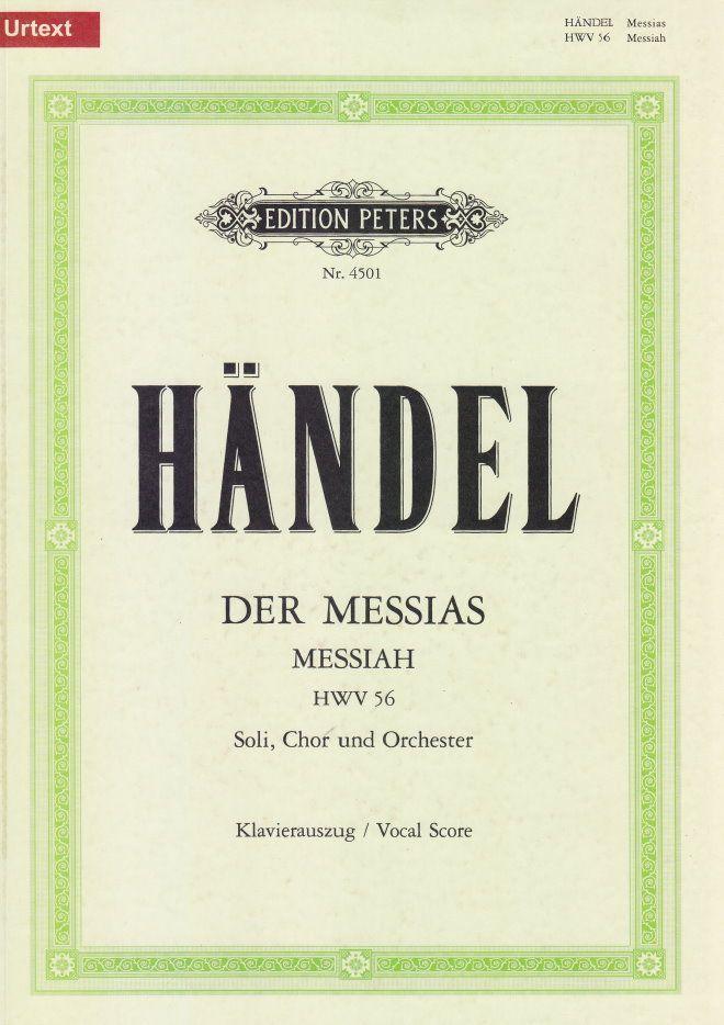 Noten Händel Der Messias HWV56 Ed Peters EP 4501 Klavierauszug