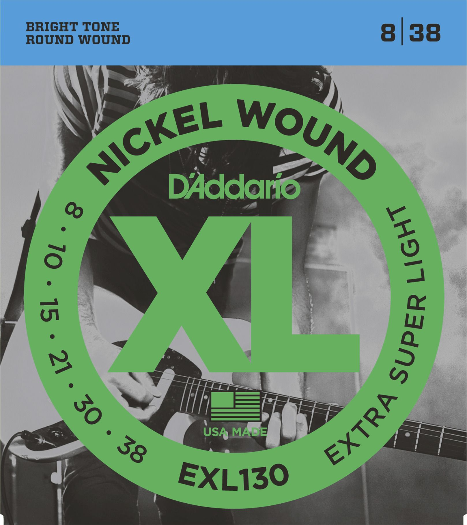 D'Addario  EXL130  E-Gitarren Saiten .008-.038
