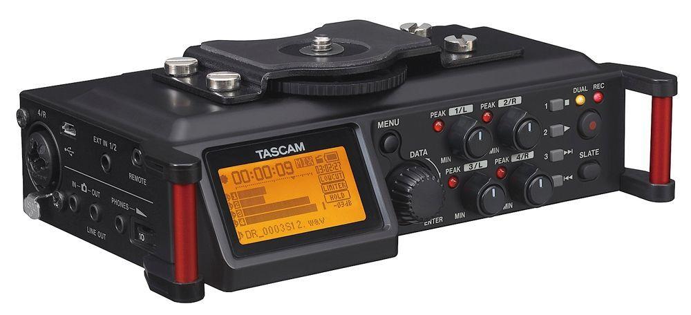 Tascam DR-70D tragbarer Digitalrecorder, Portabler 4-Kanal Audiorecorder