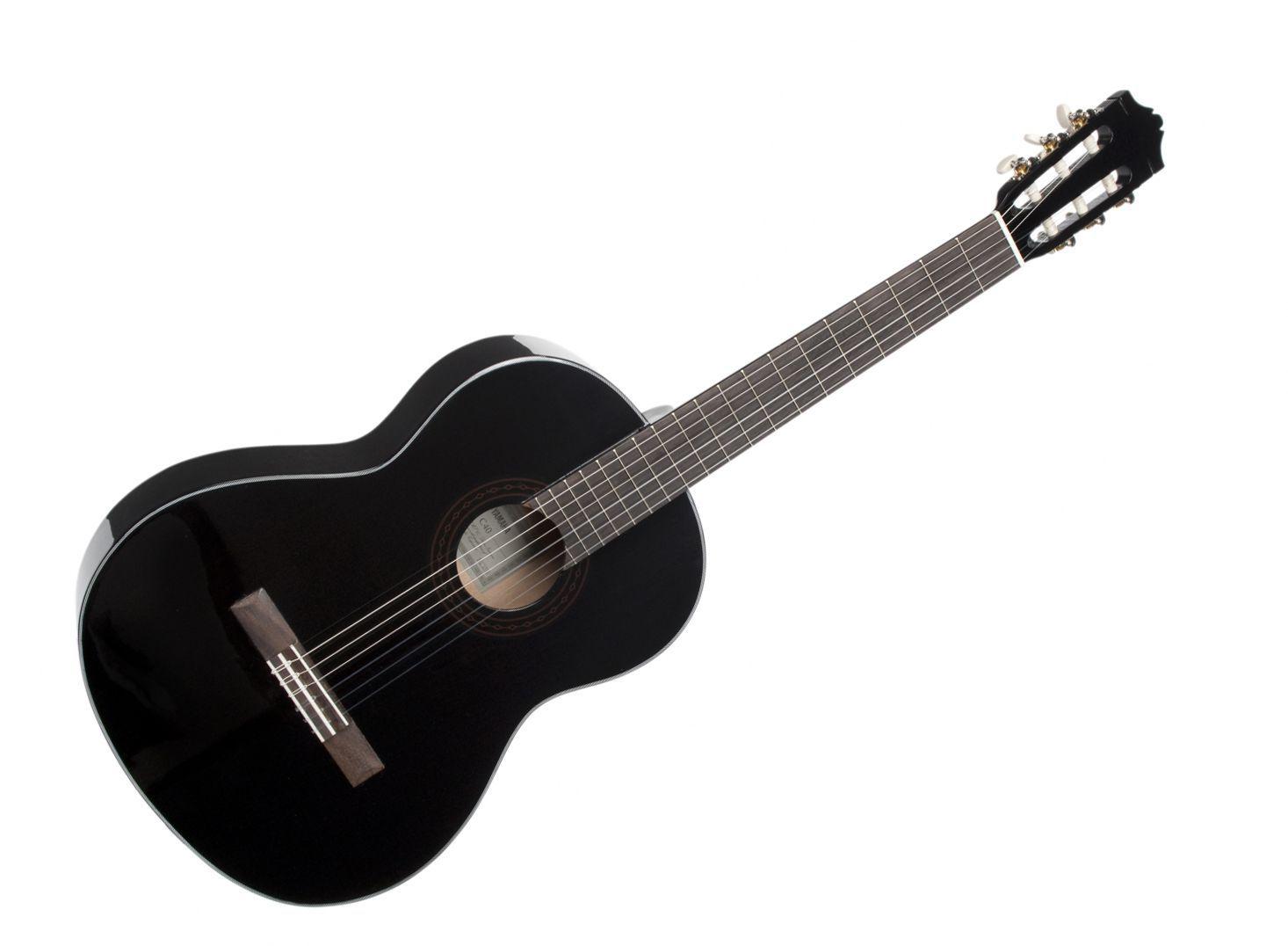 Yamaha C-40 BL Konzertgitarre in Black Highgloss Schülerinstrument
