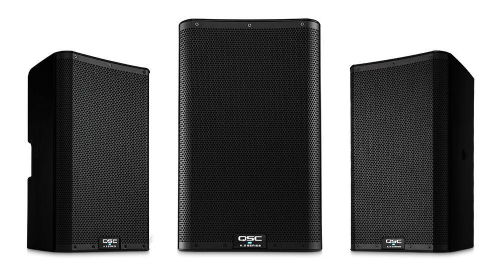 QSC K 10.2  Aktivbox  10/2,  Fullrangelautsprecherbox mit 3-Kanal Mixer