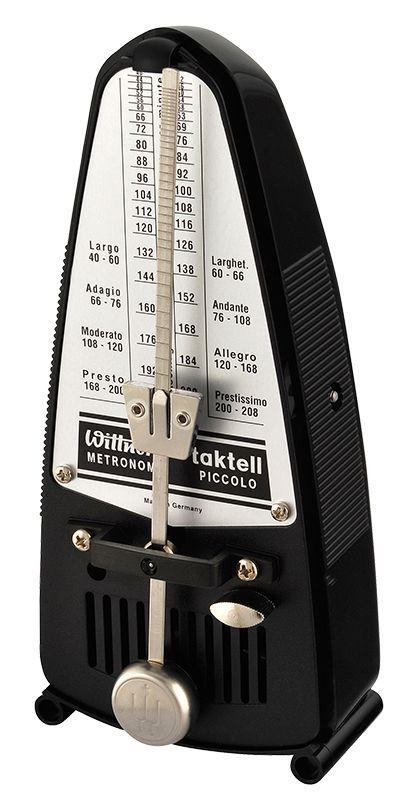 Wittner 836 Metronom Piccolo black, mechanisches Taktell mit Pendel ohne Glocke