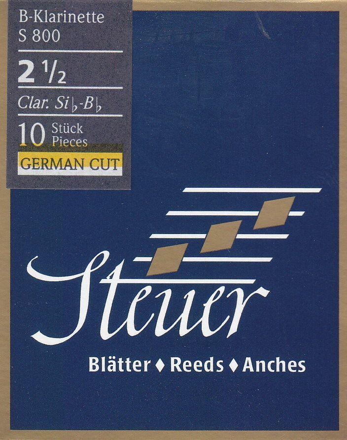 Steuer S-800 B-Klarinette deutsch 2,5 Blatt Blue Line