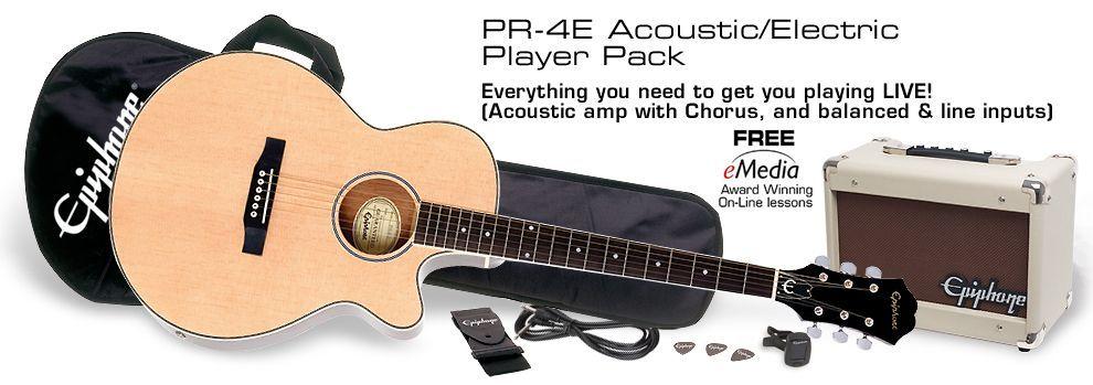 Epiphone PR-4E Einsteigerkomplettpaket für Akustikgitarristen