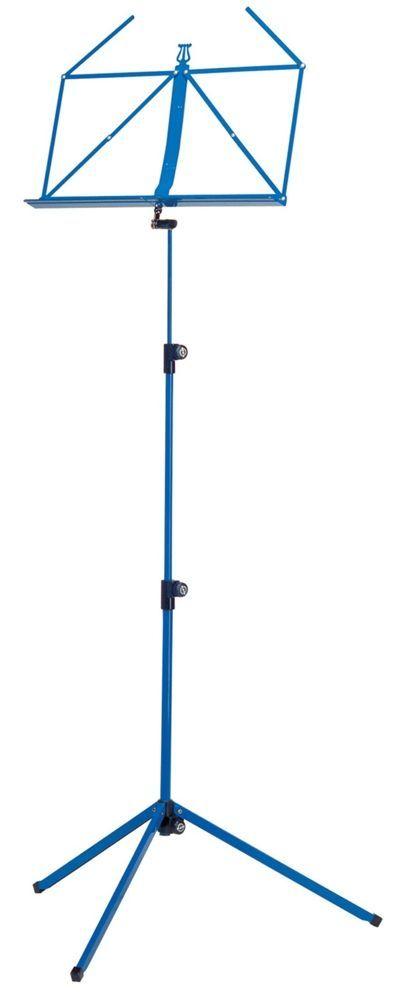 K&M 10010 Notenpult blau , Höhe 625 - 1240 mm, zusammengelegt 460mm  100/1