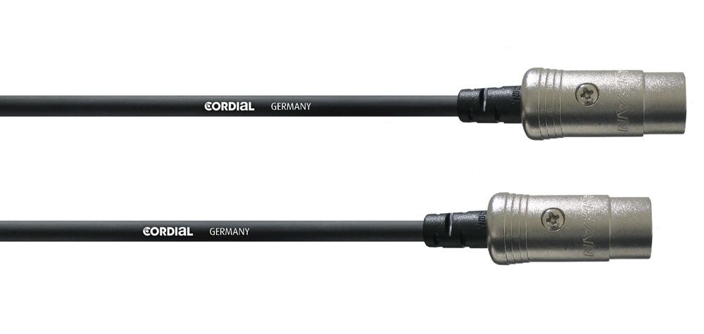 Cordial CFD 1,8 AA Midikabel 5-pol., 1,8 Meter, schwarz