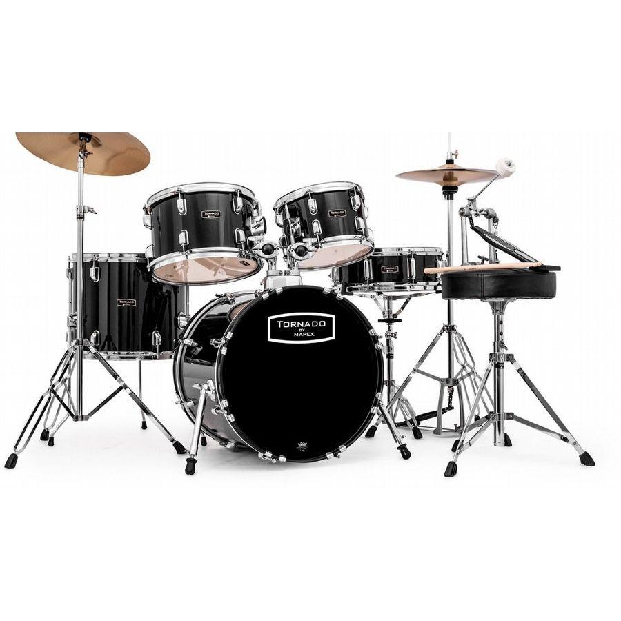 """Mapex Tornado Schlagzeug dark black TND5844FTC 18""""/10""""12""""/14"""""""