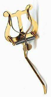 Marschgabel Riedl 313 Saxophon /Tenorhorn / Bariton mittlere Lyra, Messing